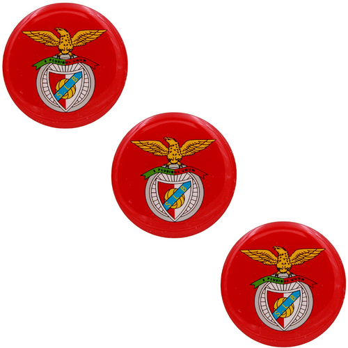 2 Inch Round SL Benfica Resin Domed 3D Decal Car Sticker - Set of 3