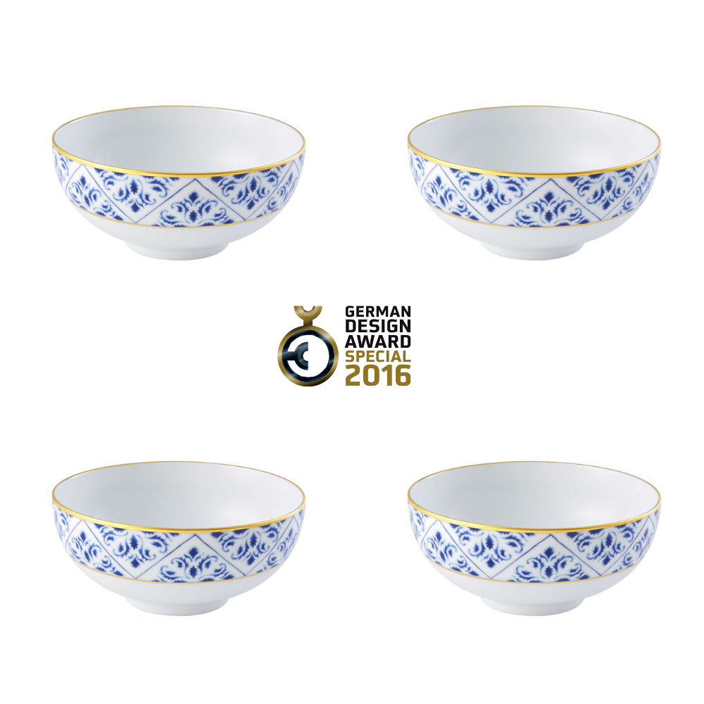 Vista Alegre Porcelain Transatlântica Soup Bowl - Set of 4