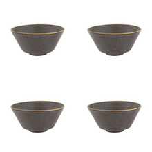 Load image into Gallery viewer, Casa Alegre Gold Stone Stoneware 19 Oz Cereal Bowl  - Set of 4