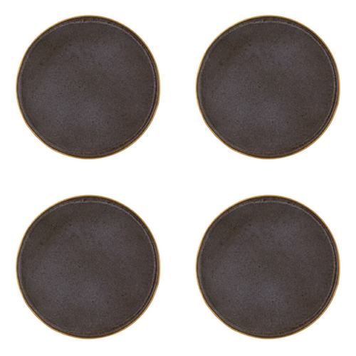 Casa Alegre Gold Stone Stoneware Charger Plate - Set of 4