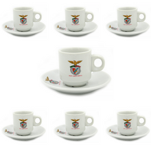 Load image into Gallery viewer, SL Benfica Set Of 6 Espresso Cup and Saucers With Gift Box #400178