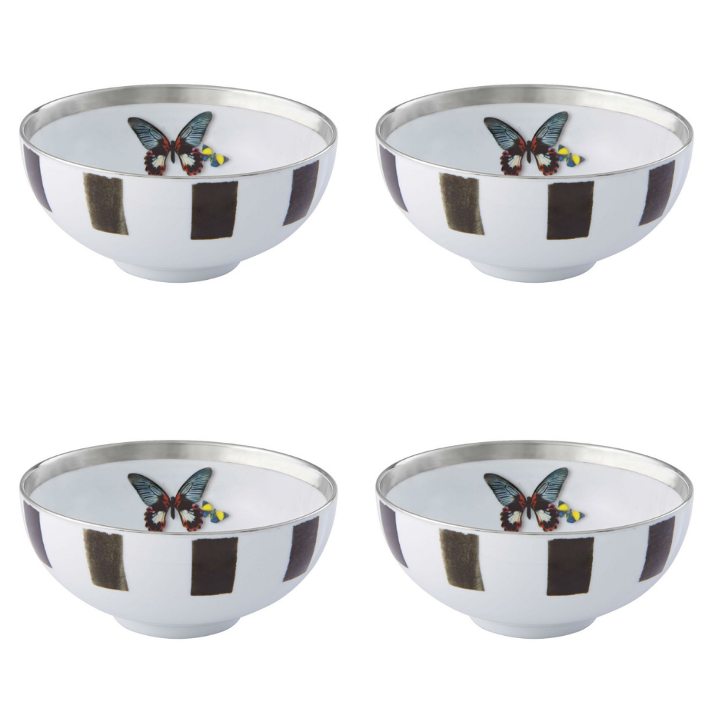 Vista Alegre Porcelain Sol Y Sombra Soup Bowl By Christian Lacroix - Set of 4