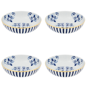 Vista Alegre Porcelain Transatlântica Cereal Bowl - Set Of 4