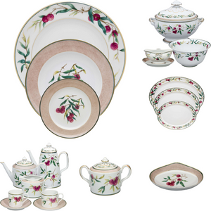 Vista Alegre Lychee Porcelain 100 Pieces Complete Dinnerware Set