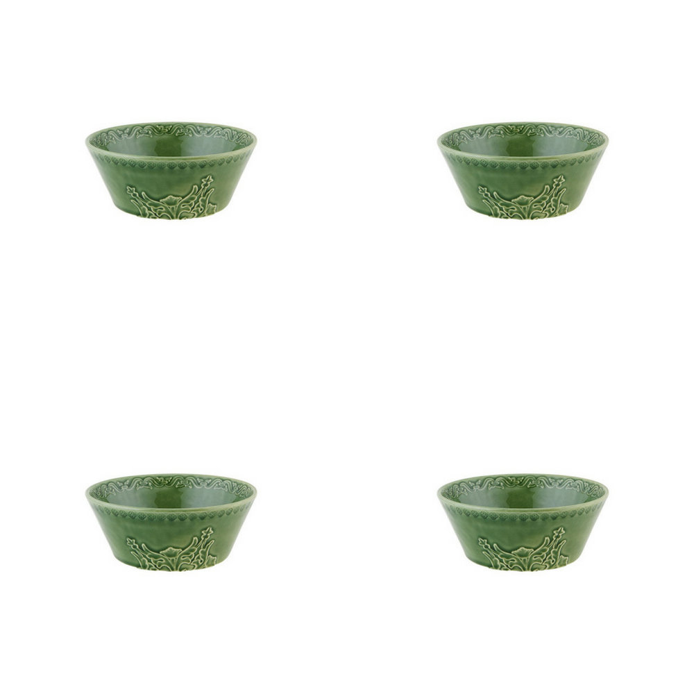 Bordallo Pinheiro Rua Nova Cereal Bowl 16 Green - Set of 4