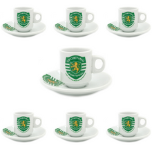 Load image into Gallery viewer, Sporting CP Set Of 6 Espresso Cup and Saucers With Gift Box