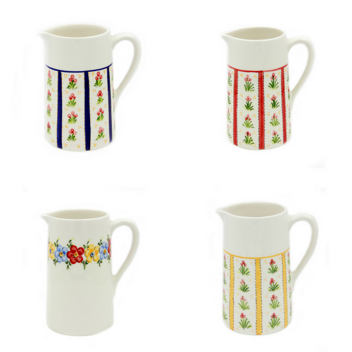 Hand-painted Traditional Portuguese Ceramic Pitcher Made in Portugal