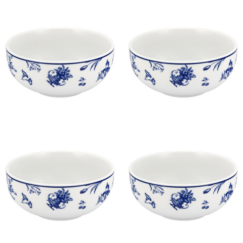 Vista Alegre Porcelain Chintz Azul Cereal Bowl - Set of 4