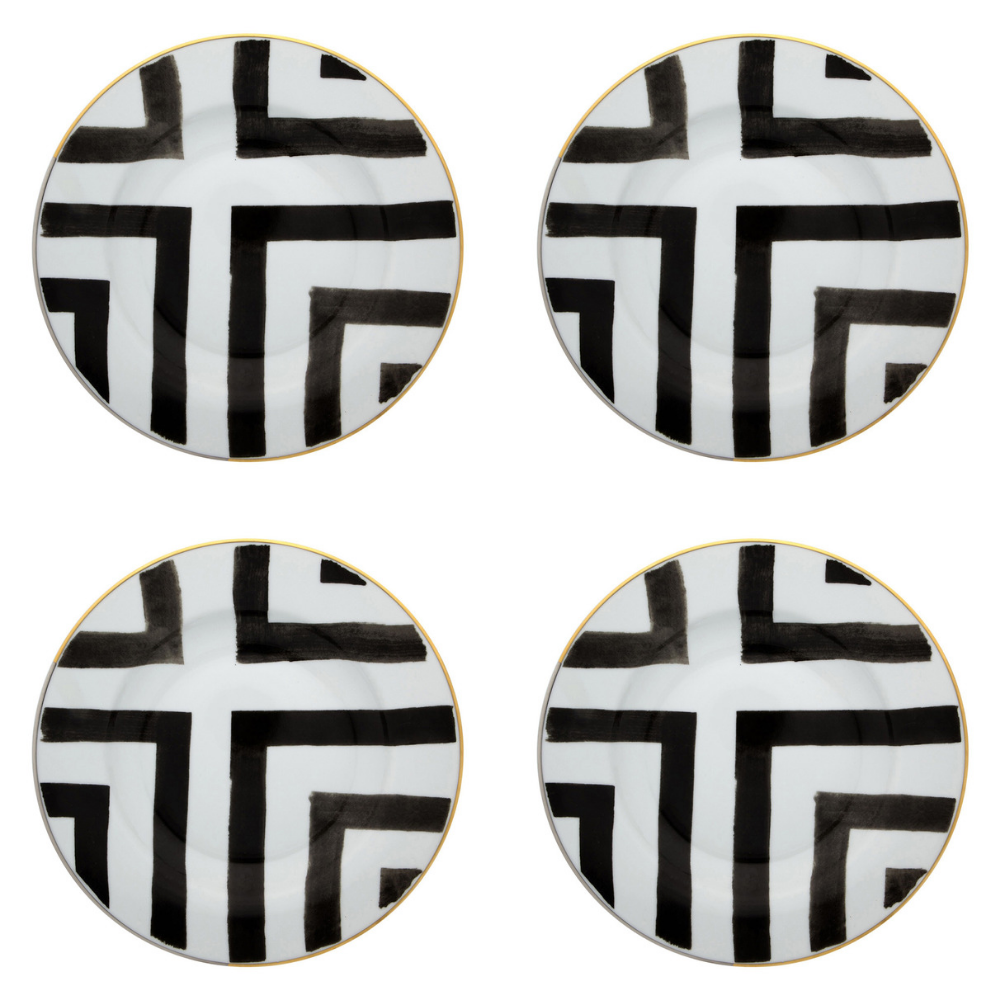 Vista Alegre Porcelain Sol Y Sombra Soup Plate By Christian Lacroix - Set of 4