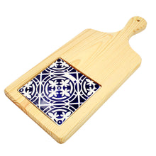 Large Cutting Board With Hand-painted Traditional Portuguese Tile