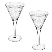 Load image into Gallery viewer, Vista Alegre Crystal Glass Astro Set of 2 Martini Cocktail Glasses
