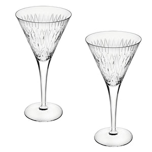 Vista Alegre Crystal Glass Astro Set of 2 Martini Cocktail Glasses