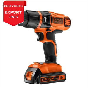 Black & Decker Egbl188Kb 18V Lithium 2 Gear Hammer Drill 220-240 Volts 50/60Hz Export Only