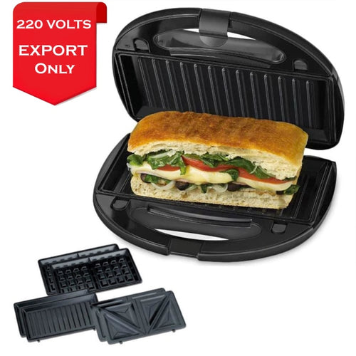 Black & Decker Gbd1043 Sandwich Grill And Panini Maker 220 Volts Export Only