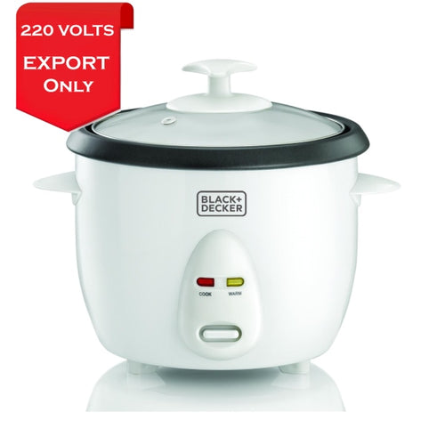 Black & Decker Rc1050 350W 1 L 4.2 Cup Rice Cooker 220-240 Volts 50/60Hz Export Only