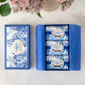 Castelbel Portus Cale Gold & Blue Pink Pepper & Jasmine Soap - Set of 3