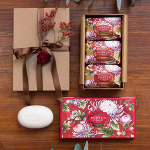 Castelbel Portus Noble Red Peony, Cedar and Rose 150g Soap - Set of 3