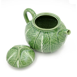 Bordallo Pinheiro Cabbage Tea Pot