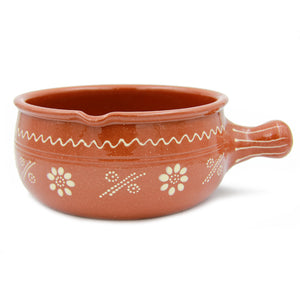 Traditional Portuguese Pottery Hand-painted Clay Terracotta Cazuela Cooking Casserole