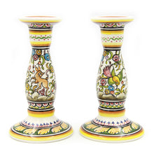Load image into Gallery viewer, Coimbra Ceramics Hand-painted Decorative Candle Holder XVII Century Recreation #198