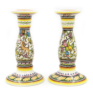 Coimbra Ceramics Hand-painted Decorative Candle Holder XVII Century Recreation #198