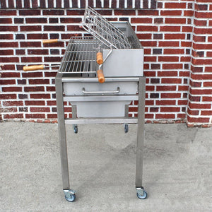 Charcoal Grill Aisi 304 Stainless Steel Handmade In Portugal 120/240 Volts Motor