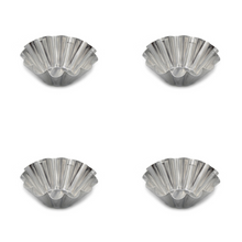 Load image into Gallery viewer, Grilo Kitchenware Egg Tart Aluminum Cupcake Cake Cookie Mold - Set of 4
