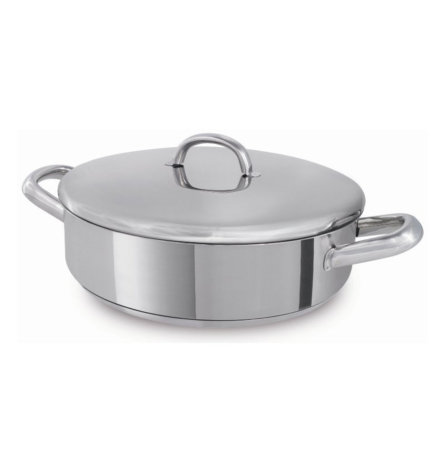 Silampos Europa Stainless Steel Low Casserole Pot Made In Portugal