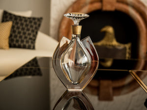 Vista Alegre Crystal Fenix Case With Whisky Decanter With Gold