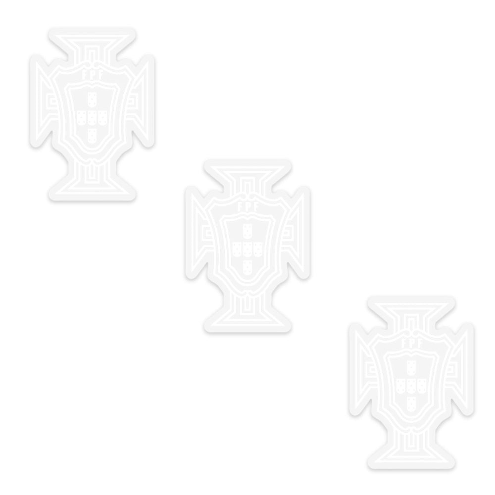 Portugal National Team Clear Sticker FPF Official Emblem - Set of 3