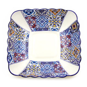 Hand-painted Traditional Portuguese Ceramic Large Salad Bowl