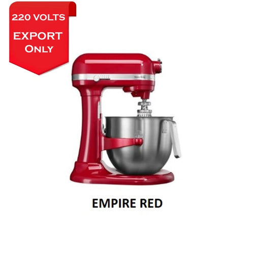 Kitchenaid 5Ksm7580 7 Qt. 6.6 Liters Stand Mixer 220 Volts Export Only Empire Red