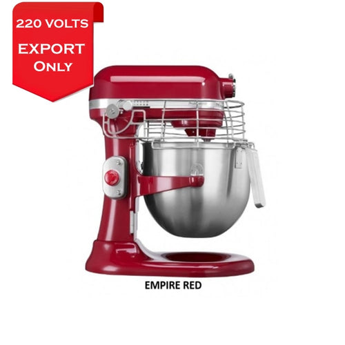 Kitchenaid 5Ksm7990 7 Qt. 6.6 Liters Stand Mixer 220 Volts Export Only Empire Red