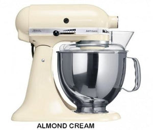 Kitchenaid Ksm150 5 Qt. 4.7 Liters Artisan Stand Mixer 220 Volts Export Only Almond Cream