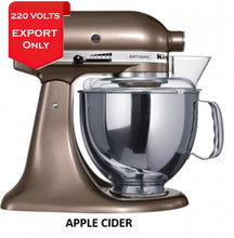 Load image into Gallery viewer, Kitchenaid Ksm150 5 Qt. 4.7 Liters Artisan Stand Mixer 220 Volts Export Only Apple Cider