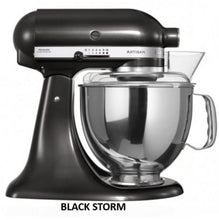 Load image into Gallery viewer, Kitchenaid Ksm150 5 Qt. 4.7 Liters Artisan Stand Mixer 220 Volts Export Only Black Storm