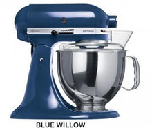 Load image into Gallery viewer, Kitchenaid Ksm150 5 Qt. 4.7 Liters Artisan Stand Mixer 220 Volts Export Only Blue Willow