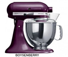 Load image into Gallery viewer, Kitchenaid Ksm150 5 Qt. 4.7 Liters Artisan Stand Mixer 220 Volts Export Only Boysen Berry