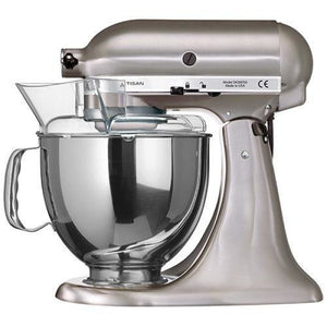 Kitchenaid Ksm150 5 Qt. 4.7 Liters Artisan Stand Mixer 220 Volts Export Only Brushed Nickel