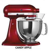 Load image into Gallery viewer, Kitchenaid Ksm150 5 Qt. 4.7 Liters Artisan Stand Mixer 220 Volts Export Only Candy Apple