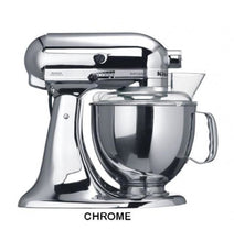 Load image into Gallery viewer, Kitchenaid Ksm150 5 Qt. 4.7 Liters Artisan Stand Mixer 220 Volts Export Only Chrome