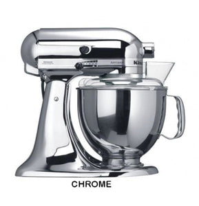 Kitchenaid Ksm150 5 Qt. 4.7 Liters Artisan Stand Mixer 220 Volts Export Only Chrome