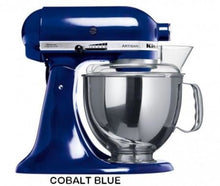 Load image into Gallery viewer, Kitchenaid Ksm150 5 Qt. 4.7 Liters Artisan Stand Mixer 220 Volts Export Only Cobalt Blue