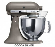 Load image into Gallery viewer, Kitchenaid Ksm150 5 Qt. 4.7 Liters Artisan Stand Mixer 220 Volts Export Only Cocoa Silver