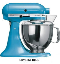 Load image into Gallery viewer, Kitchenaid Ksm150 5 Qt. 4.7 Liters Artisan Stand Mixer 220 Volts Export Only Crystal Blue