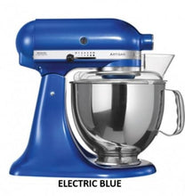 Load image into Gallery viewer, Kitchenaid Ksm150 5 Qt. 4.7 Liters Artisan Stand Mixer 220 Volts Export Only Electric Blue