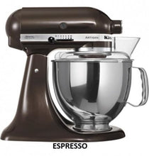 Load image into Gallery viewer, Kitchenaid Ksm150 5 Qt. 4.7 Liters Artisan Stand Mixer 220 Volts Export Only Espresso