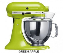 Load image into Gallery viewer, Kitchenaid Ksm150 5 Qt. 4.7 Liters Artisan Stand Mixer 220 Volts Export Only Green Apple