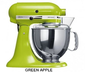 Kitchenaid Ksm150 5 Qt. 4.7 Liters Artisan Stand Mixer 220 Volts Export Only Green Apple