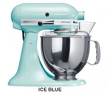 Load image into Gallery viewer, Kitchenaid Ksm150 5 Qt. 4.7 Liters Artisan Stand Mixer 220 Volts Export Only Ice Blue